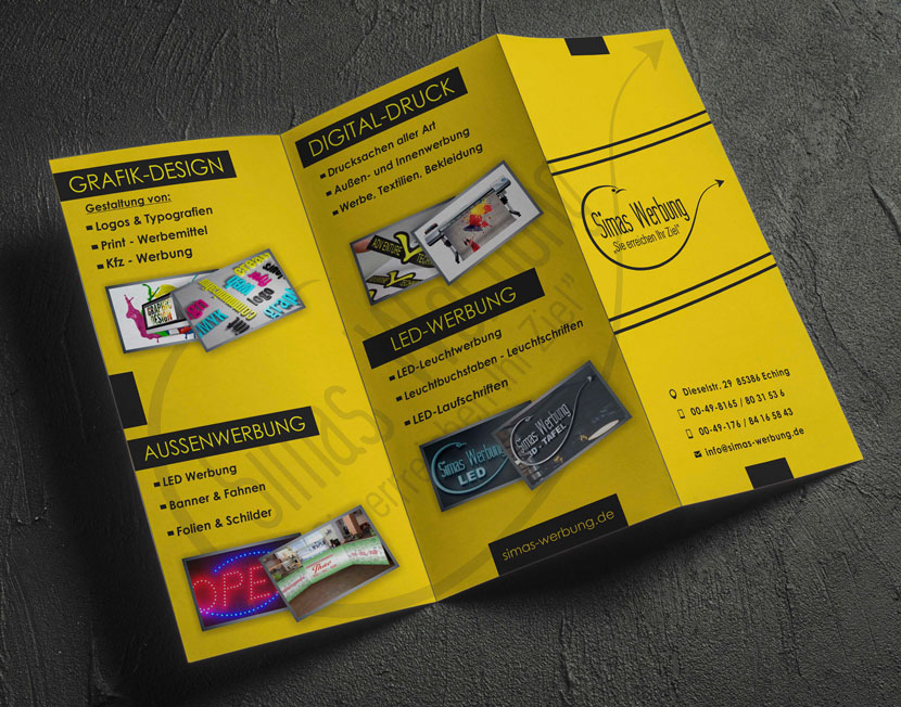 Simas Werbung München Eching Drucksachen Digitaldruck